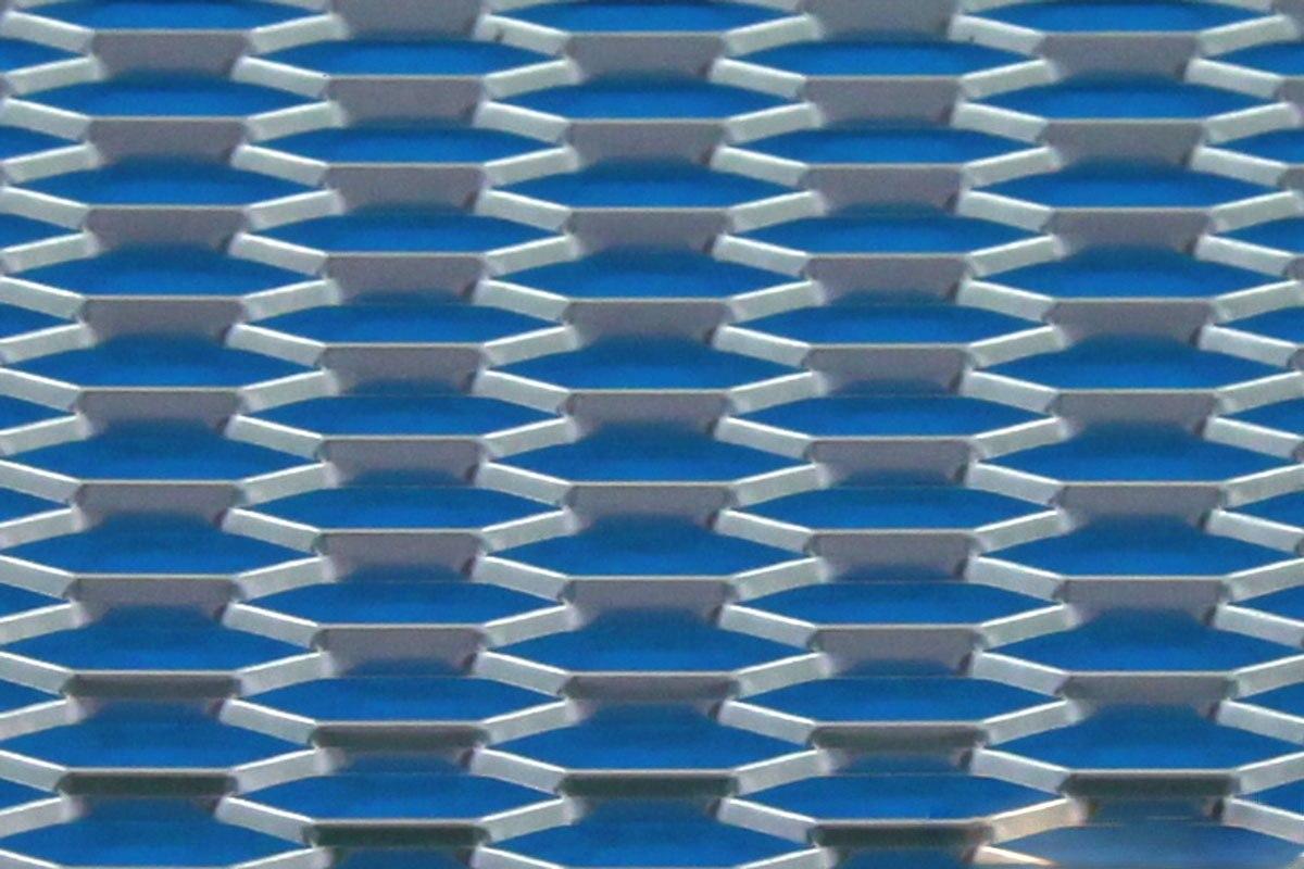 SIATKA ALU HONEY COMB SILVER 120 * 40cm - GRUBYGARAGE - Sklep Tuningowy